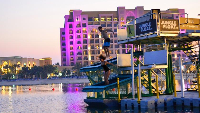 Doubletree by Hilton Resort & Spa Marjan Island, Tarzan Boat Trampoline Jump