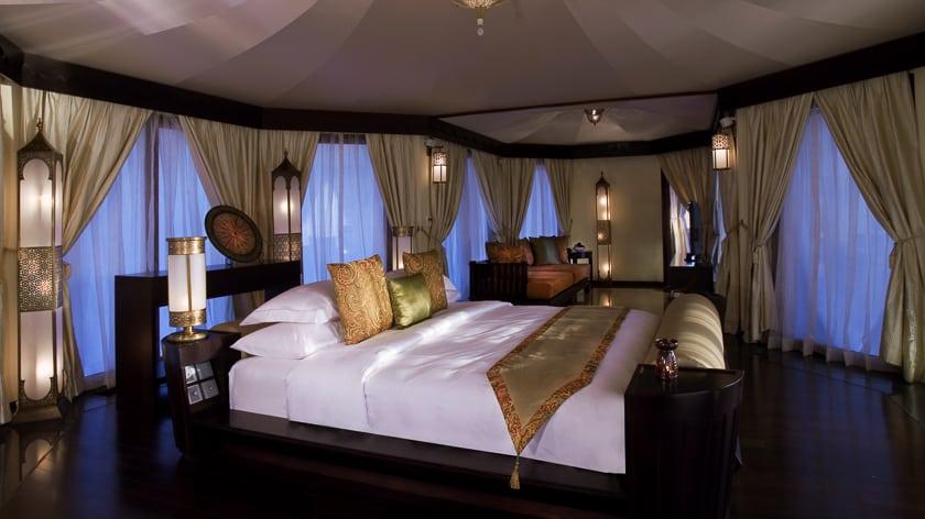 The Ritz Carlton Ras Al Khaimah, Al Wadi Desert, Al Khaimah Tented Poll Villa Bedroom