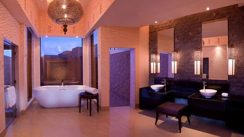 The Ritz Carlton Ras Al Khaimah, Al Wadi Desert, Al Rimal Pool Villa Bathroom